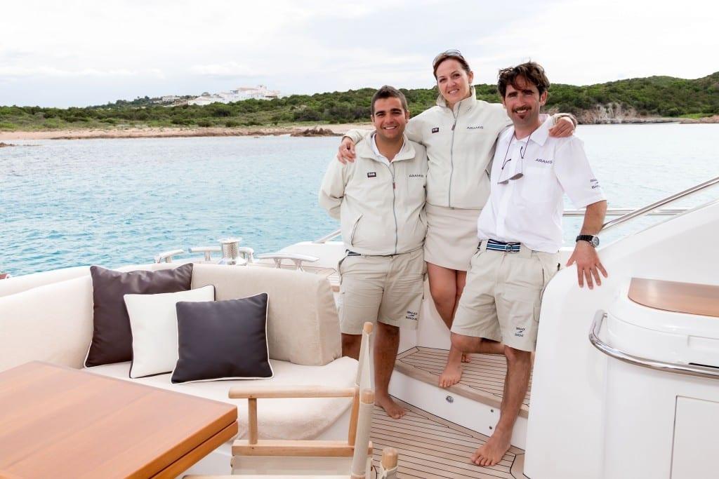 yacht charter crew