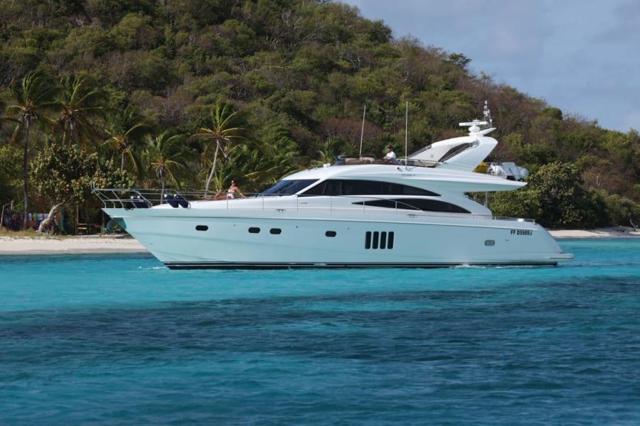 Princess 68 yacht charter costs